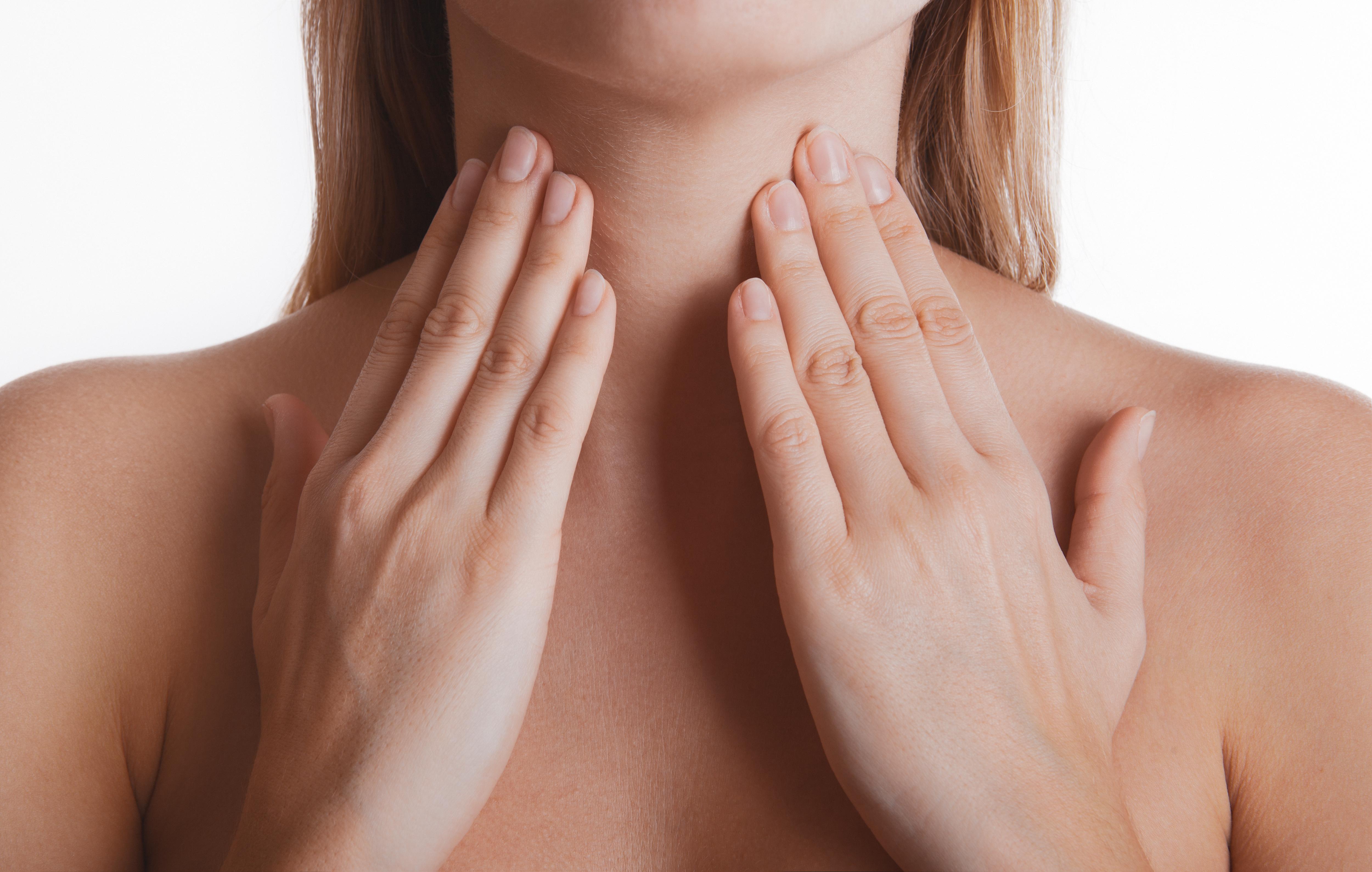 harter lymphknoten am hals