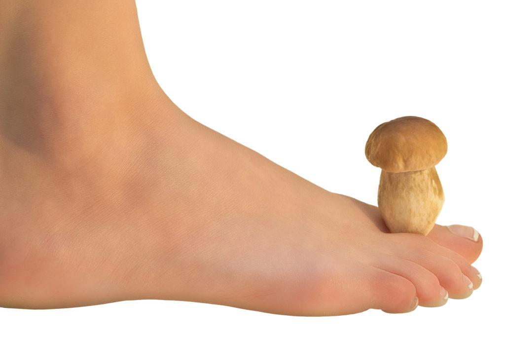 Fuß mit Pilz