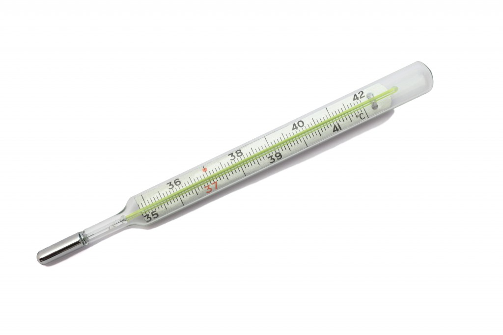 Thermometer instrument for measuring temperature.