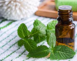 Eine Schläfenmasage mit Pfefferminzöl kann genau so wirksam sein wie ein Schmerzmittel. (Bild: kazmulka/fotolia.com)