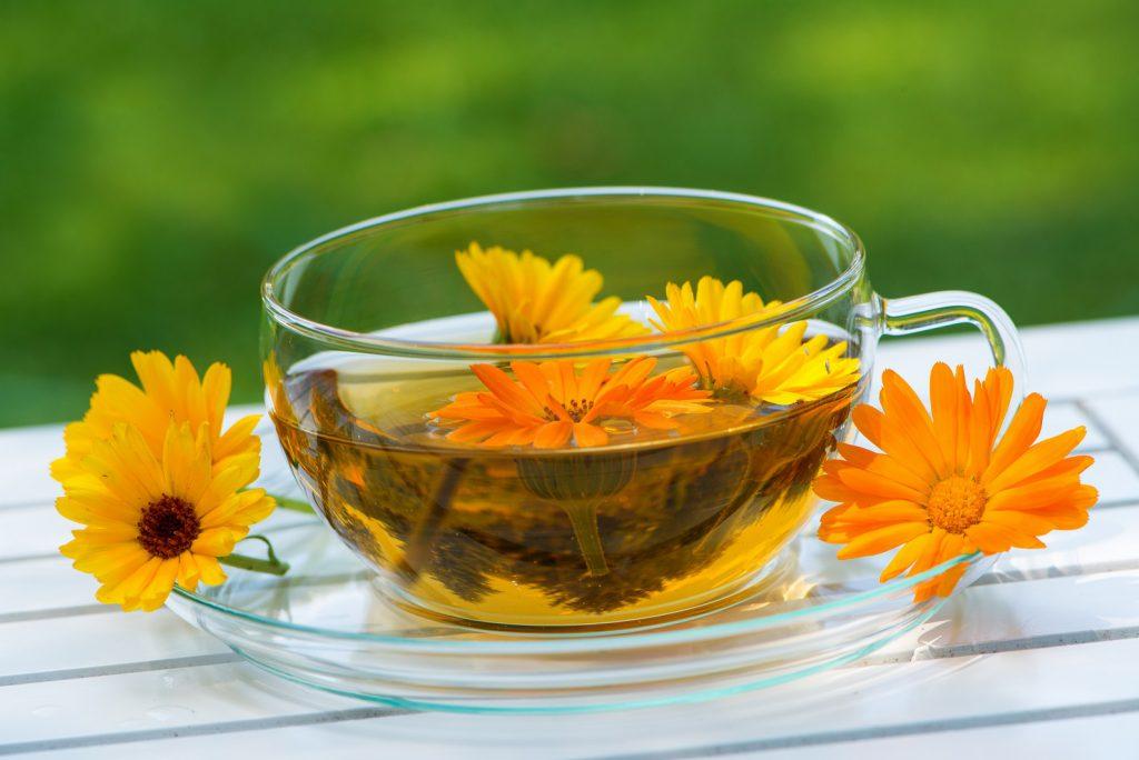 Ringelblumen im Tee