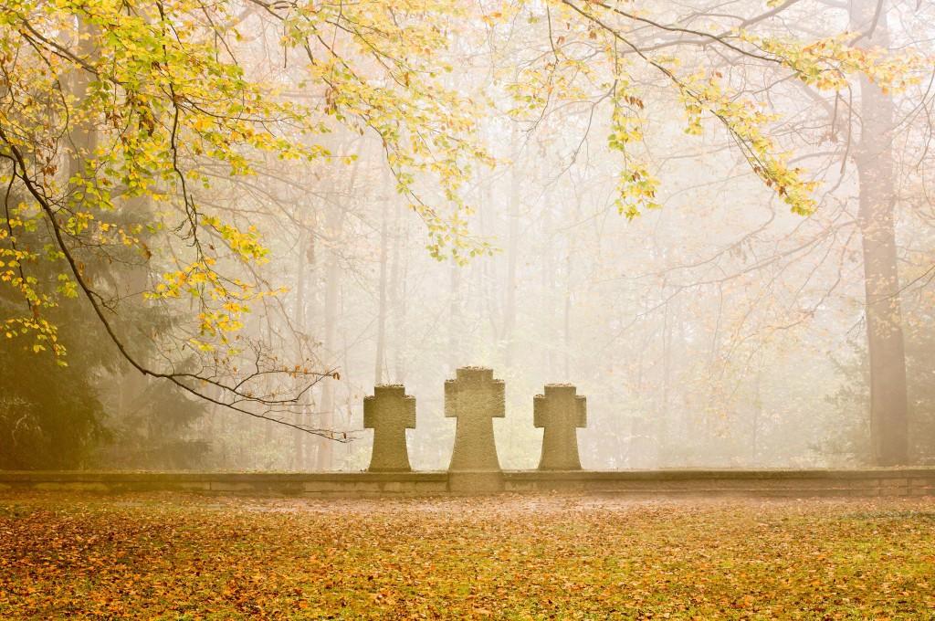 Grabsteine auf dem Ehrenfriedhof