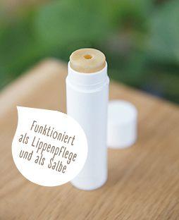 Natürliches Lippenbalsam selbst hergestellt. Bild: Freya-Verlag
