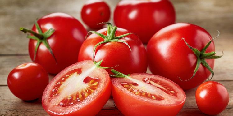 Frische Tomaten auf einem Tisch
