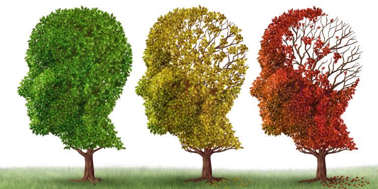Tre alberi a forma di testa.