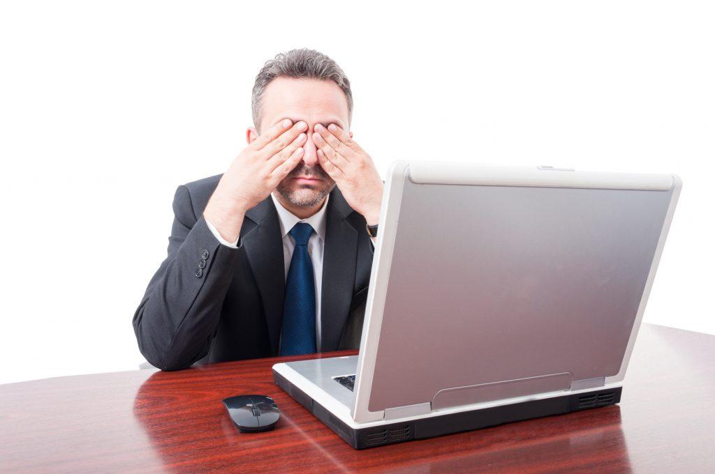 schlecht sehen durch stress