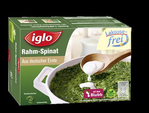 Iglo ruft aufgrund möglicher Plastikteile seinen Laktose-freien Spinat zurück. (Bild: http://www.iglo.de/produkte/rahm-spinat-laktosefrei)