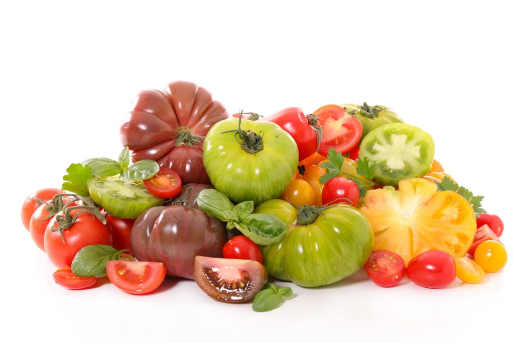 assorted variety tomato
