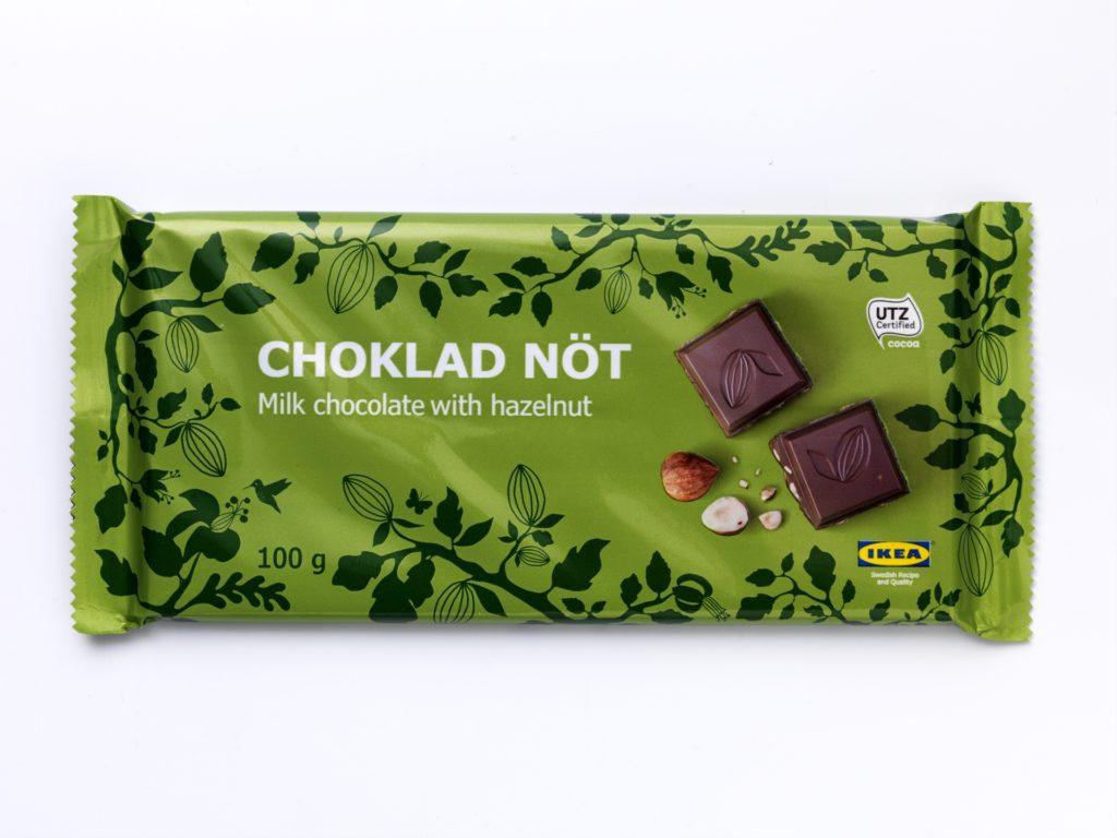 """IKEA dehnt Rückruf zu Schokolade aus: Sechs weitere Produkte sind für Personen mit Haselnuss- und/oder Mandelallergie oder entsprechender Unverträglichkeit nicht geeignet. CHOKLADNÖT. Quellenangabe: """"obs/IKEA Deutschland GmbH & Co. KG/Inter IKEA Systems B.V. 2016"""""""