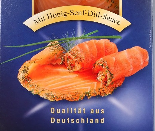 """Die Ostsee Fisch GmbH ruft seinen """"Graved Lachs mit Honig-Senf-Dill-Sauce"""" zurück. Darin seien Listerien nachgewiesen worden. Diese Bakterien können die Gesundheit gefährden. (Bild: """"lebensmittelwarnung.de"""")"""