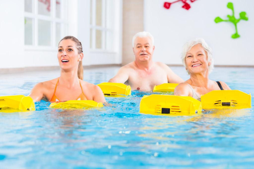 Stärkt die Muskeln und fördert die Ausdauer: Aqua-Training. Bild: Kzenon - fotolia