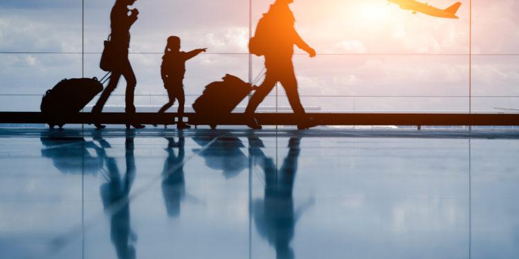Familie auf Reisen.