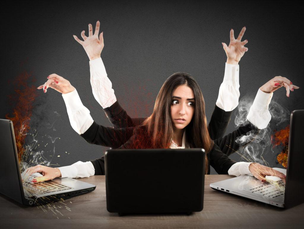 Multitasking - Wie ein Krake, der nicht weiß, was seine vielen Arme gerade anfassen (alphaspirit/ fotolia.com)