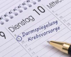 Kalendereintrag zur Darmkrebsvorsorge