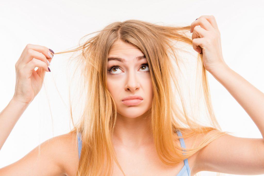 Glanzende kraftige haare