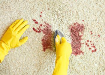 Eine Paste aus Backpulver und kaltem Wasser kann Blutflecken aus dem Teppich verschwinden lassen. (Bild: Africa Studio/fotolia.com)