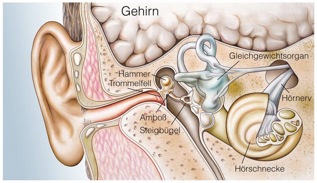 schlechter hören durch ständige anspannung