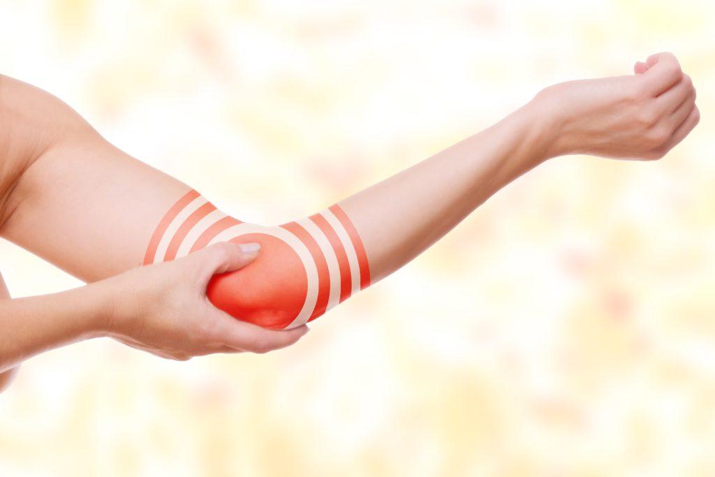 Schmerzen auf der Außenseite von Unterarm, Handgelenk und Fingern