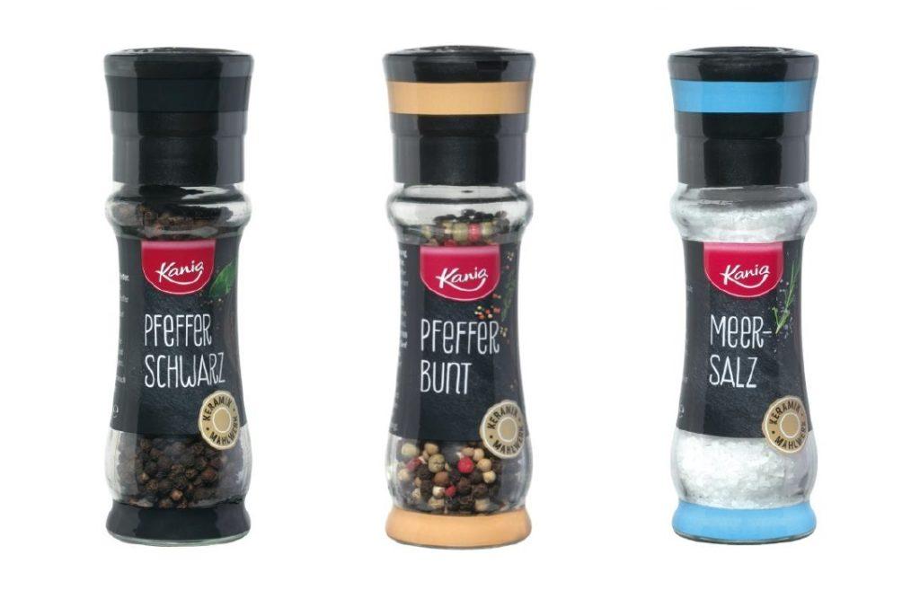 Rückruf bei Lidl: Kania Gewürzmühlen könnten Glassplitter enthalten