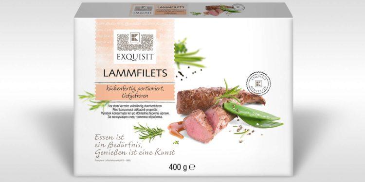 verpackte Lammfilets des Handelsunternehmens Kaufland