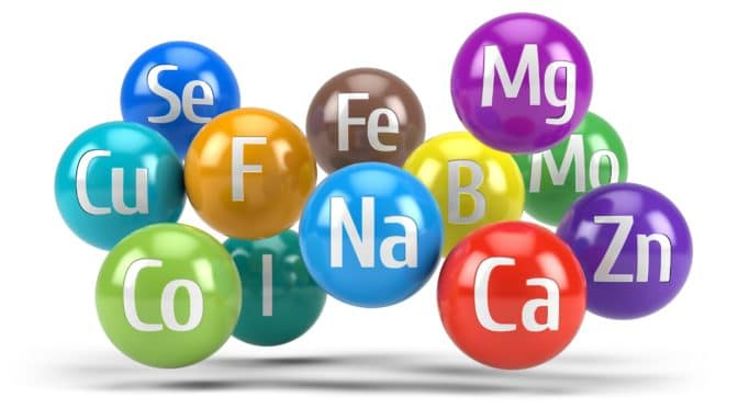 Computerdarstellung bunter chemischer Mineralien