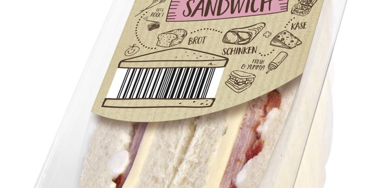 Schinken und Gouda Sandwich des Discounters Netto