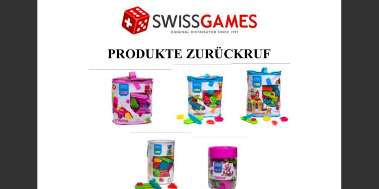 Verschiedene Spielzeuge des Herstellers Swissgames