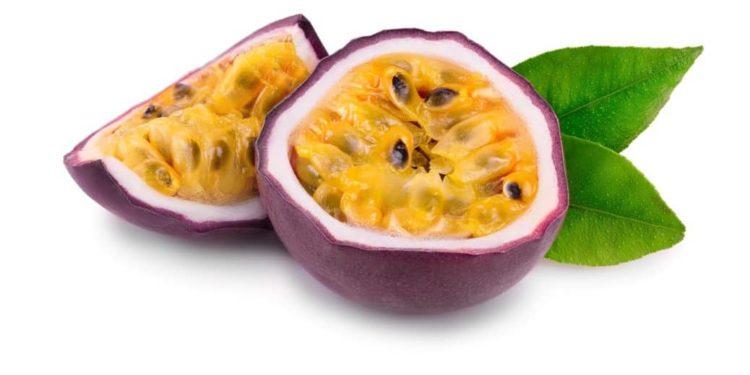 Aufgeschnittene Passionsfrucht
