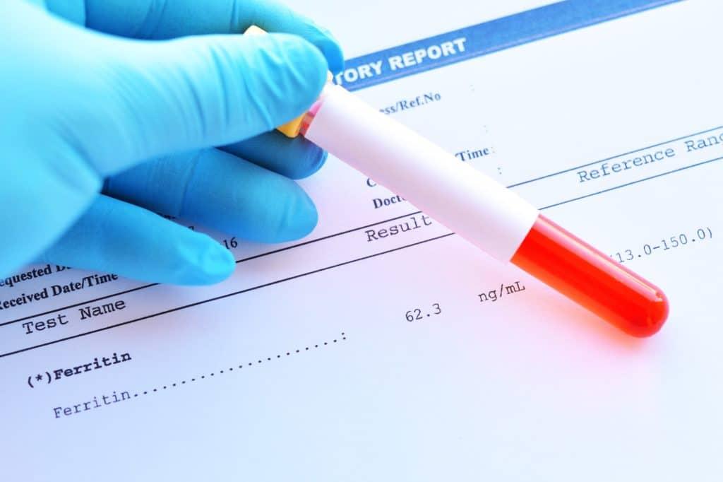 Blutprobe für Eisenwert
