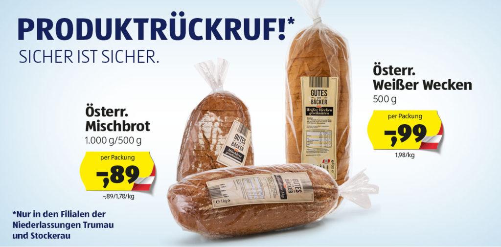 Brot des Lebensmitteldiscounters Hofer