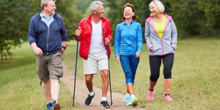 Aktive Senioren beim Wandern