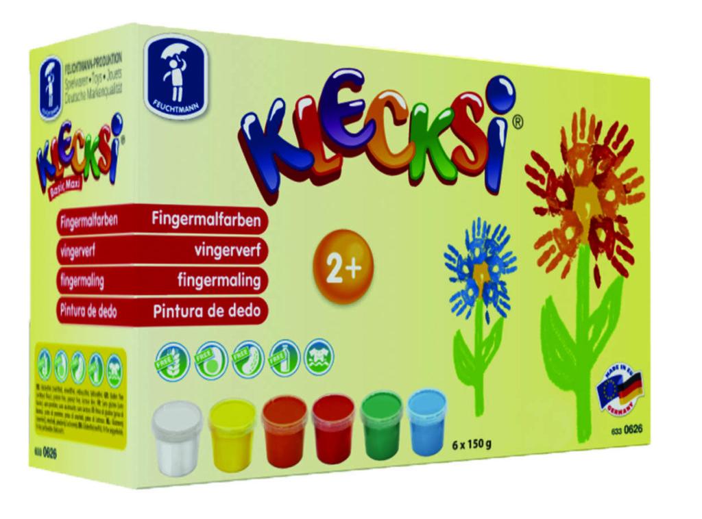 Eine Packung Fingermalfarben