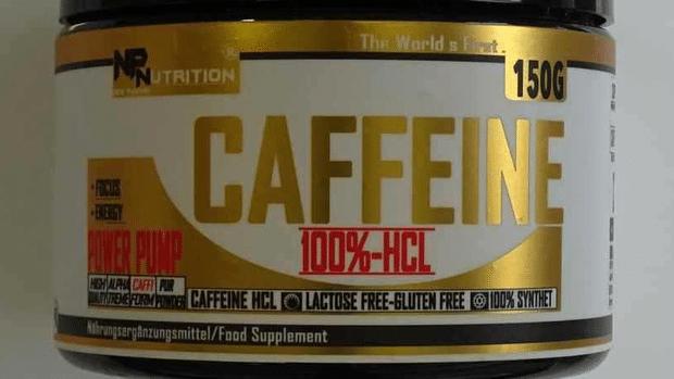 """Koffein-Pulver """"Caffeine 100%-HCL"""" des Kölner Händlers """"New Pharma Nutrition"""""""