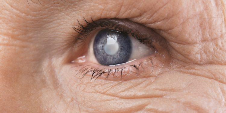 Eine Nahaufnahme eines Auges