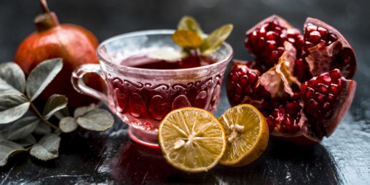Granatapfel-Teetasse