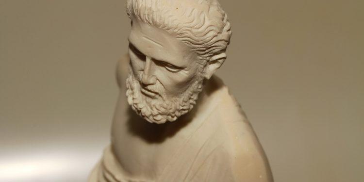 Büste von Hippokrates.