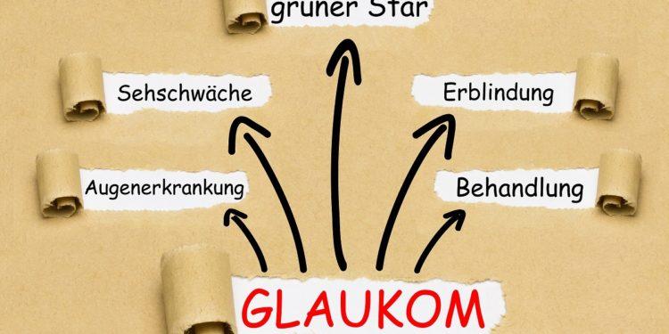 Skizze mit Stichworten zum Thema Glaukom.