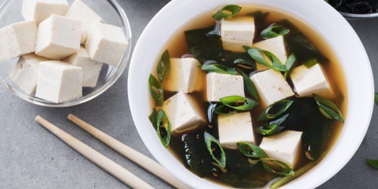 eine japanische Miso-Suppe