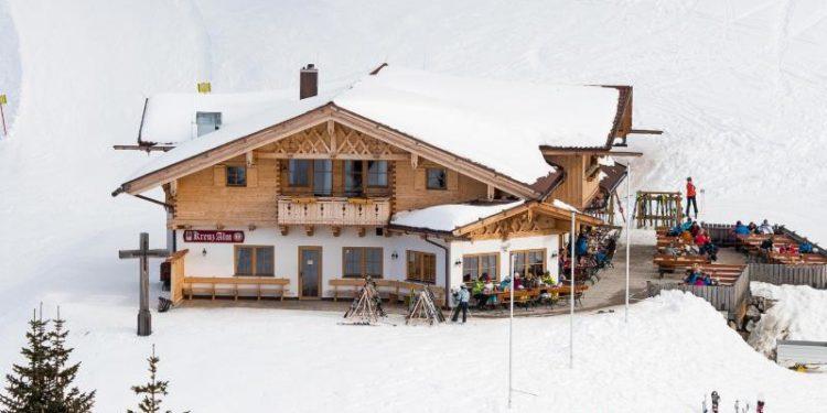 Eine Gaststätte an einer Skipiste.