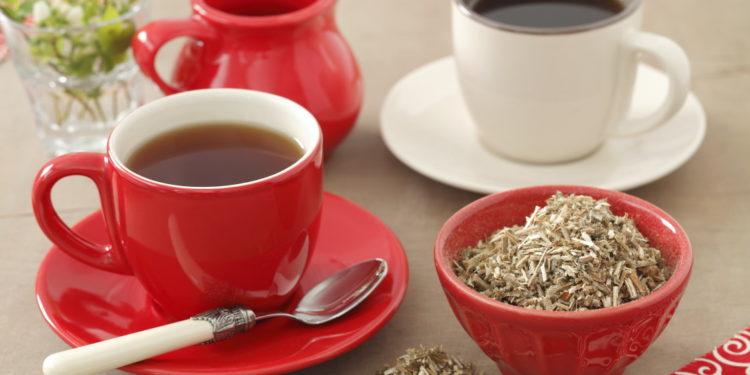Andorn getrocknet mit Teetasse