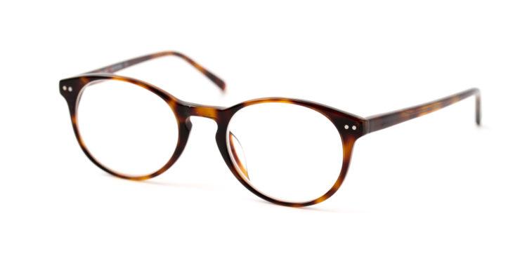 Großaufnahme einer Brille.