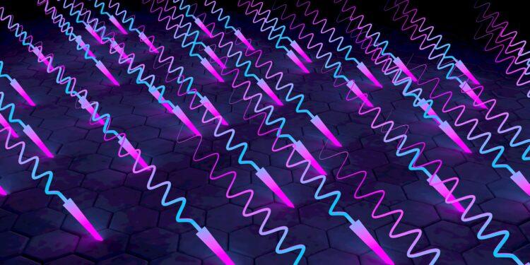 Eine grafische Darstellung von ultraviolettem Licht.