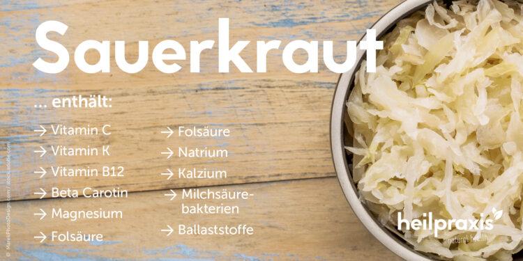Inhaltsstoffe vom Sauerkraut