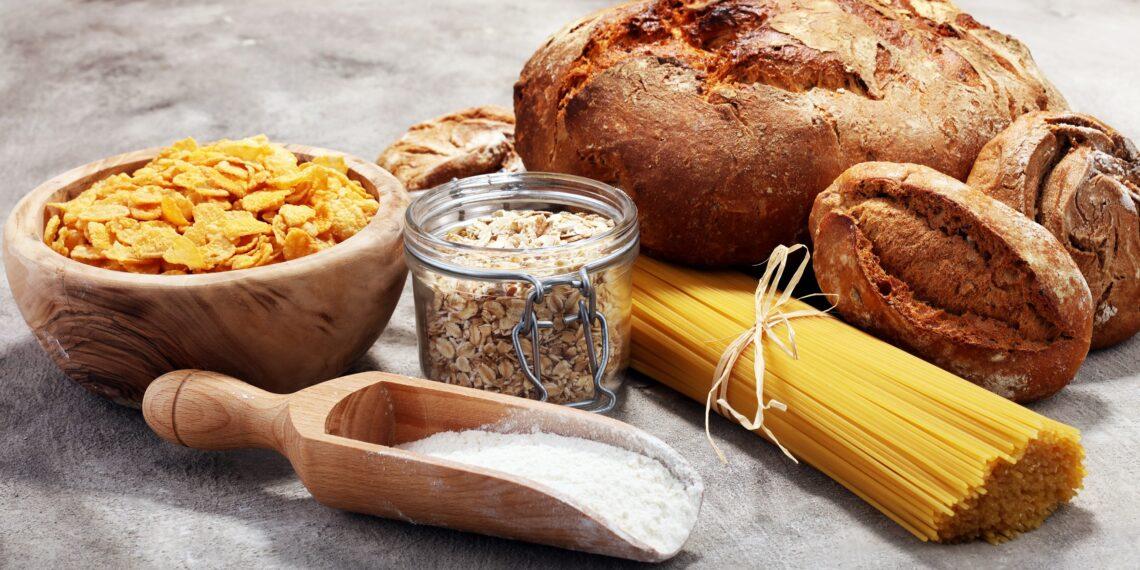 Kohlenhydratreiche Lebensmittel.