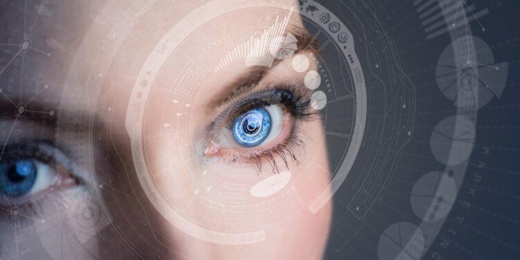 Die Augenpartie einer Frau in Nahaufnahme.