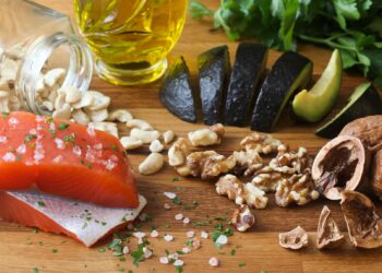 Lebensmittel, die reich an Omega-3 sind.
