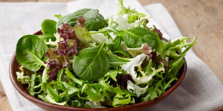 Eine Schüssel mit frischem Salat