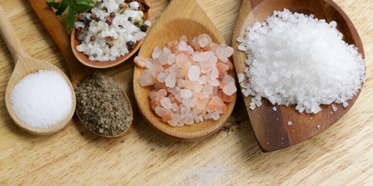 Verschiedene Arten von Salz