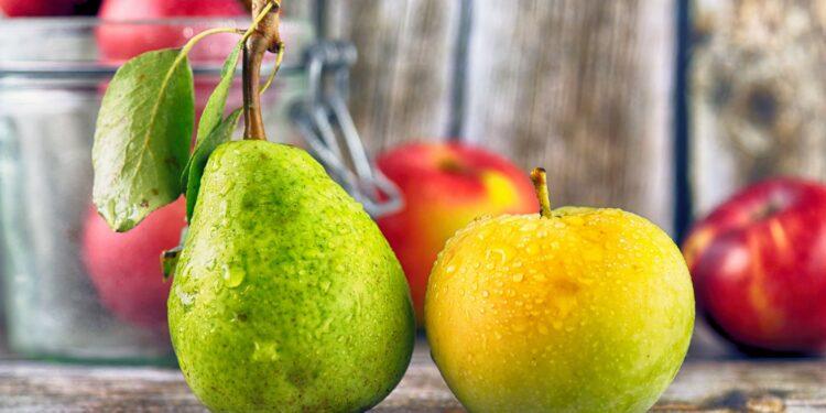 Apfel und Birne.