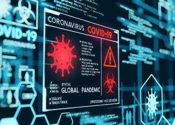 Computeranimation von COVID-19.